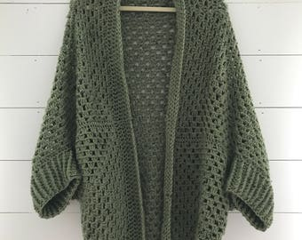 Green Cozy Cardigan || SALE!