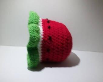Baby Watermelon Sun Hat, Baby Sun Hat,  Crochet Baby Hat, Watermelon Hat, Summer Hat, Photo Prop, Infant Hat, 3-6 Months, Shower Gift