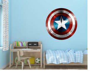Captain America Shield Marvel Vinyl Wall Decal