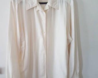 Cream cotton shirt
