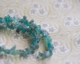 Natural Apatite Rough Raw Chip Nugget Beads, 7-15mm 15 Inch Strand (1)