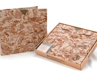 Uniform Shirt Scrapbook - U.S. Marines Camouflage - 12 x 12 inches