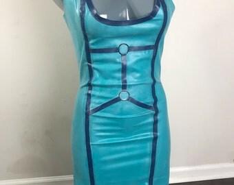 Latex harness style dress
