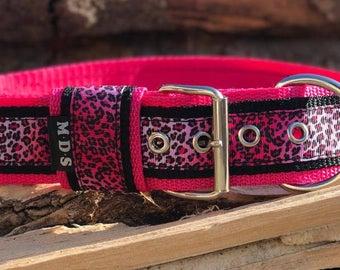 Dog collar - dog - collar strap - Doggy necklace ' Summer - Leopard