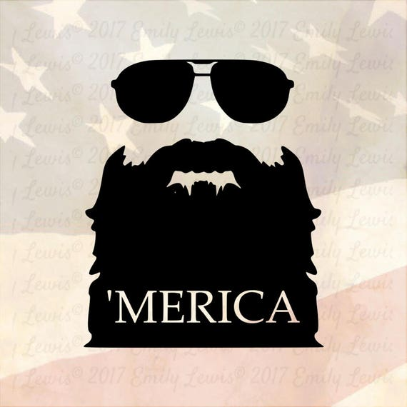 4th Of July Svgs 'MERICA Svgs Merica Svg Beard Svgs