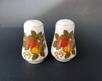 "Enoch Wedgwood (Tunstall) Ltd. England ""English Harvest"" Salt and Pepper Shakers"