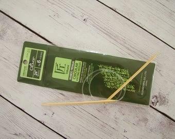 "Takumi Bamboo 24"" Circular Knitting Needles-Size 6"