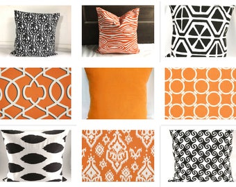 HALLOWEEN PILLOW SALE Cotton Pillow case Pillows Decorative  pillow orange pillow cover 18 x18, 16X16, 14x16, 14x14, 12x16, 12x12, 10x10