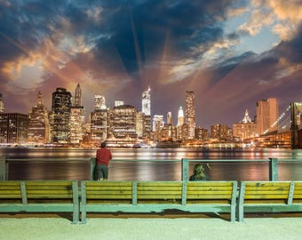 Stunning Manhattan Skyline, New York Canvas, Wall canvas, 3 panels canvas or choose a single print, Art Print,NYC large canvas