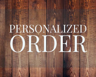 Personalized Order