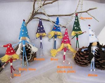Christmas Elf Dolls, Elf Ornaments,Elf Dolls, Handmade Elves, Pixie Dolls, Christmas Tree decoration, Elf gift.