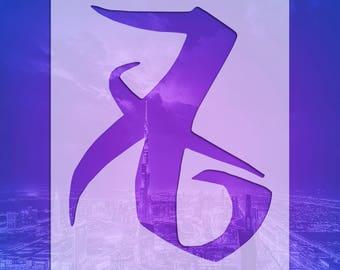 "SHADOWHUNTER RUNES STENCILS: Sku SHR78-Love (4"" x 5"")"