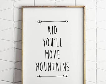 50% OFF NEW LUXE dr seuss quote, dr seuss printable, move mountains quote, move mountains printable, dr seuss wall decor, dr seuss wall art