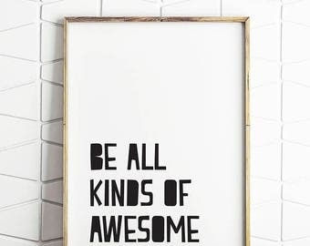 70% OFF SALE awesome print, awesome art, awesome decor, awesome poster, awesome download, awesome quote, awesome saying, awesome art