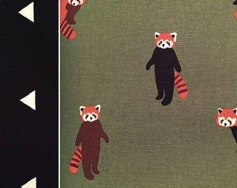 Olive Green Lesser Panda Picnic Blanket, Waterproof Picnic Blanket, Waterproof Picnic Rug