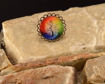 Fancy colorful tree ring
