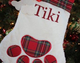 Cat Personalized Stocking/Dog Personalized Stocking, Pet Personalized Stocking, Christmas Stocking for Pet/Christmas Personalised Stocking