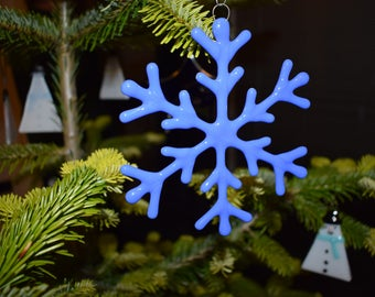 Large blue opaque Snowflake