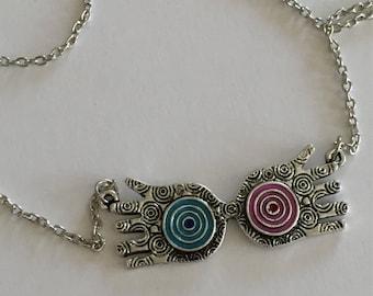 HP Luna  Ravenclaw glasses necklace