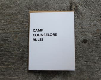 Camp counselor thank you card! Summer camp is awesome. Thank you camp counselors!