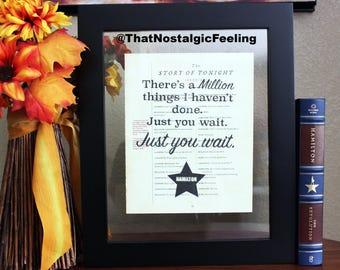 Hamilton Musical • Million things • Just you wait • Hamilton broadway • Typography • Word Art • Wedding Gift • Alexander Hamilton • Poster
