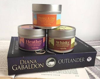 Outlander Candle, Outlander Gifts, Valentines Day Candle, Whiskey Scented Candle, Heather Candle