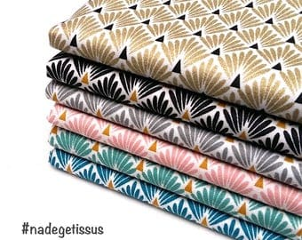 Lot 6 coupons fabric scales, fabric arts, Fat Quarter 50 cm x 50 cm