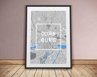 Oldenburg-framed city-digital printing