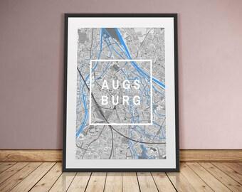 Augsburg-framed City-digital printing