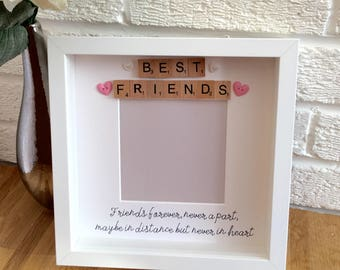Gift for friends, best friend gift, Christmas Gift for best friend, friends forever never apart, birthday present for friend, gifts for her