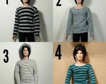 handstiched stripped sweatshirt for Integrity Toys homme/male doll