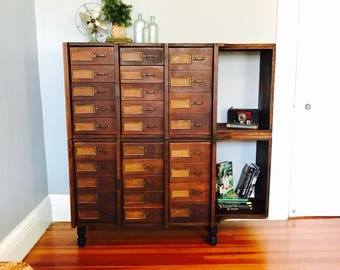 Schwartz Sectional System Apothecary Cabinet