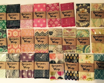 Beeswax Wrap reusable eco friendly food covers