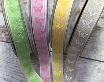Butterfly Ribbon, Cotton Ribbon, Ribbon, Hair Ribbons, Sewing Supplies, Haberdashery.