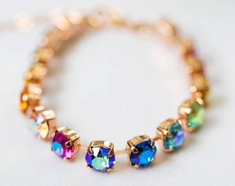 Swarovski Care Bears Rainbow Bracelet- Rose Gold