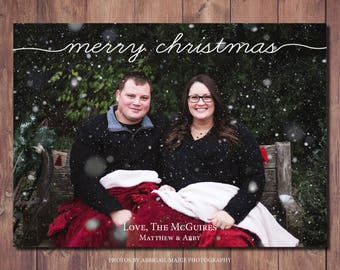 Holiday Photo Christmas Card Printable, Printable Photo Christmas Card, Modern Christmas Card Printable, Photo Credit: AMP