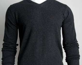 The Classic V-Neck Sweater (Charcoal Black)