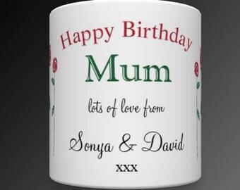 Personalised Mum Birthday Mug. Personalised Gift For Mum. Personalised Mom Gift. Mug For Mum. Personalised Mum Mug. Mom Mug.