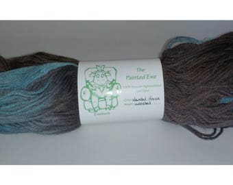 Haunted House Worsted Weight Hand Dyed Yarn Custom Color Pattern 100g Skein