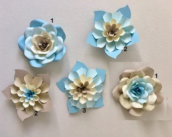 Wall Flowers Decor large paper flowers | etsy