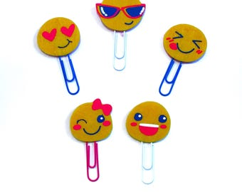 Bright and Cheery Emoji Paper Clips | Planner Clips | Bookmarks