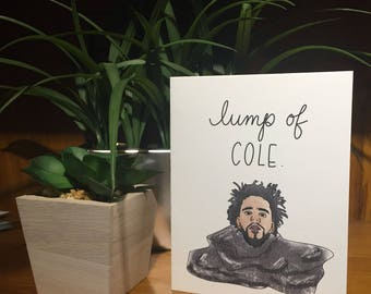 Lump of J Cole Holiday card