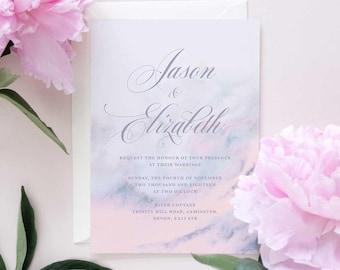 Marble wedding invite, marble wedding invitation set, modern marble invite
