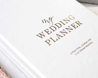 Luxury wedding planner book, engagement gift, wedding scrapbook, gift for brides, wedding checklist, wedding organizer, elegant wedding