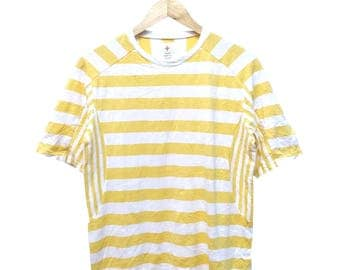 Hot Sale!!! Rare Authentic HEAD POTTER PLUS Striped T-Shirt Hip Hop Skate Swag Medium Size