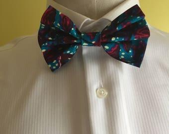 Ankara Gentlemen Ankara Bow Tie with Pocket Square, Men's Bow-tie,African Men's Fashion, African Bow Tie, Gift for Men