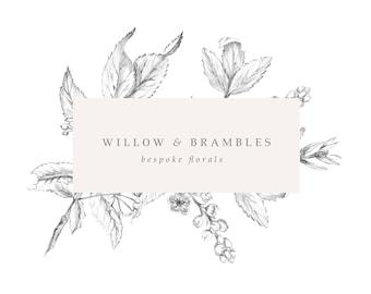 Premade Logo, Feminine logo ,  Logo Design, Brand Design, Business Logo, photography logo, boutique logo, botanical logo, flower logo