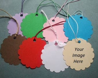 50pcs Personalized tags with string, multiple colors tags, price tags, wedding tags, gift tags