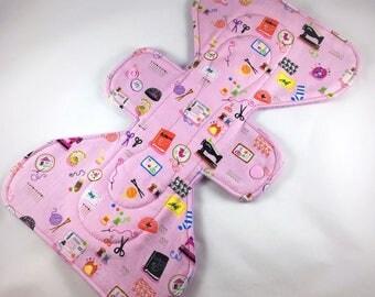 "Mini Sewing Tools - Pink  - 11"" inch -  3L - Reusable Cloth Pad"