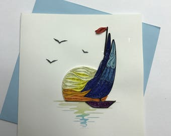 Sailing Quilling Greeting Card